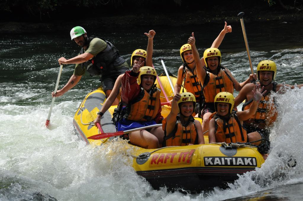 Kaituna River, Deutschen AuPairs, Wildwasserfahrt