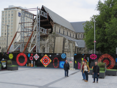 Deutsche Reisegruppe, Christchurch, Cathedral Square, city tour