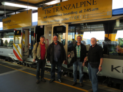 Deutsche Reisegruppe, Tranz alpine Express, Christchurch