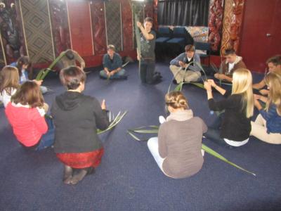 flax weaving, Tahawai Marae, Auckland