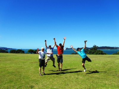 Waitangi Treaty Grounds, German tourgroup