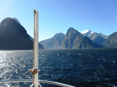 Milford Sound, Fiordland, South Island, Oceanic Discoverer